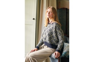 Rowan - New Nordic - Tuva Sweater by Arne and Carlos in Felted Tweed and Kidsilk Haze (downloadable PDF)