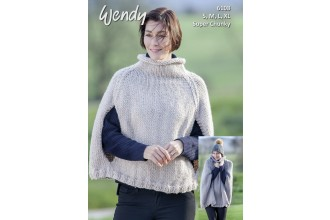 Wendy 6108 Poncho in Wendy with Wool Super Chunky (downloadable PDF)