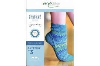 West Yorkshire Spinners - Peacock Chevron Socks in Signature 4 Ply (leaflet)