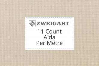 Zweigart Aida - 11 Count (Perl) - Per Metre