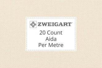 Zweigart Aida - 20 Count (Extra Fine) - Per Metre