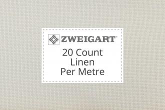 Zweigart Evenweave Linen - 20 Count - Per Metre