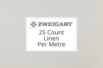 Zweigart Evenweave Linen - 25 Count (Dublin) - Per Metre