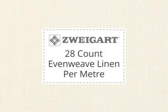 Zweigart Evenweave Linen - 28 Count (Cashel) - Per Metre
