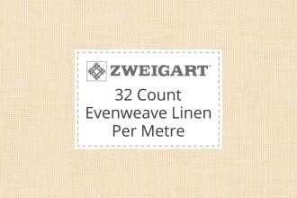 Zweigart Evenweave Linen - 32 Count (Belfast) - Per Metre