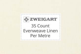 Zweigart Evenweave Linen - 35 Count (Edinburgh) - Per Metre