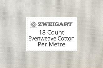 Zweigart Evenweave Cotton - 18 Count (Davosa) - Per Metre