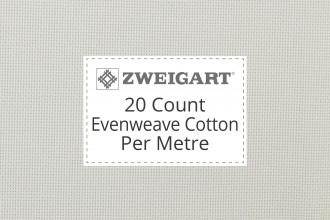 Zweigart Evenweave Cotton - 20 Count (Bellana) - Per Metre