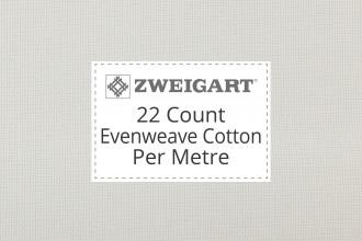 Zweigart Evenweave Cotton - 22 Count (Hardanger) - Per Metre