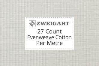 Zweigart Evenweave Cotton - 27 Count (Linda) - Per Metre