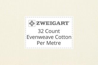 Zweigart Evenweave Cotton - 32 Count (Murano) - Per Metre