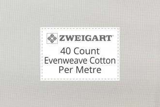 Zweigart Evenweave Cotton - 40 Count (Verdal) - Per Metre