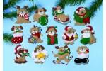 Design Works - Christmas Puppy Ornaments (Applique Kit)