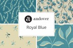 Andover Fabrics -  Royal Blue Collection