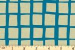 Andover Fabrics - Tiger Plant - Squares - Cobalt (8649/B)