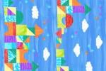 Andover Fabrics - The Very Hungry Caterpillar - Castle Stripe - Light Blue (9196/B1)