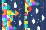 Andover Fabrics - The Very Hungry Caterpillar - Castle Stripe - Dark Blue (9196/B)