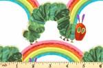 Andover Fabrics - The Very Hungry Caterpillar - Caterpillar Rainbow - White (9200/L)