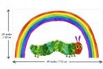 Andover Fabrics - The Very Hungry Caterpillar - Rainbow Caterpillar Panel - White (9597/L)