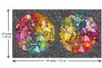 Andover Fabrics - Art Theory - Grand Circle Panel - Charcoal (9697/C)