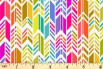 Andover Fabrics - Art Theory - Rainbow Feather - Ivory (9701/L)