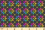 Andover Fabrics - Art Theory - Rainbow Star - Charcoal (9703/C)