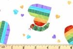 Andover Fabrics - The Very Hungry Caterpillar - Caterpillar Hearts - Day (9832/L)