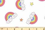 Andover Fabrics - Believe - Flying Rainbow - White (9904/L)