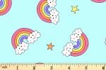 Andover Fabrics - Believe - Flying Rainbow - Light Blue (9904/LB)