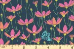 Andover Fabrics - Flora and Fauna - Meadow - Navy (9995/B)