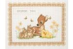 Anchor - Birth Record - Baby Animals (Cross Stitch Kit)