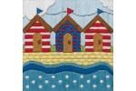 Anchor - Beach Huts (Long Stitch Kit)