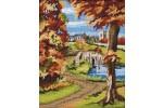 Anchor - Autumn Scene (Tapestry Kit)