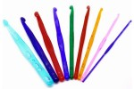 Bobbin Box Single End Crochet Hooks - Acrylic - 14cm - Set of 9