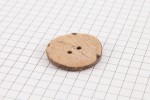 Round Coconut Shell Button, 25mm