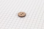 Round Coconut Shell Button, 13mm