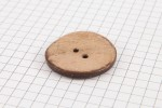 Round Coconut Shell Button, 30mm