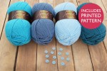 Attic24 - Blue Bunting (Stylecraft Yarn Pack with 13 Buttons)
