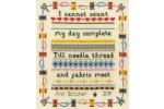 Bothy Threads - Stitching Sampler (Cross Stitch Kit)