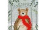 Bothy Threads - Christmas Cards - Xmas Bear (Cross Stitch Kit)