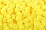Pom Pom Trim - 15mm - Yellow (per metre)