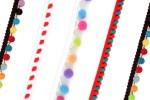 Pom Pom Trim - Multicoloured (per metre)