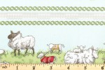 Clothworks - Fairisle Friends - Meadow Borders - Light Blue (Y2574-103)