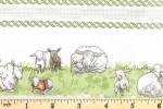 Clothworks - Fairisle Friends - Meadow Borders - White (Y2574-2)