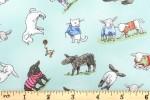 Clothworks - Fairisle Friends - Lambs in Sweaters - Light Blue (Y2576-103)