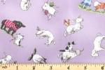 Clothworks - Fairisle Friends - Lambs in Sweaters - Lavender (Y2576-26)