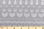 Clothworks - Fairisle Friends - Fairisle Cats - Light Grey (Y2577-62)