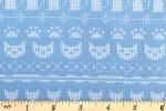 Clothworks - Fairisle Friends - Fairisle Cats - Sky Blue (Y2577-88)