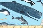 Clothworks - Oceans Away - Whale Friends - Sky Blue (Y2927-97)