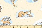 Clothworks - Guess How Much I Love You - Playing in the Snow - Warm Yellow (Y3081-59)